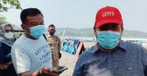 Ratusan Pengunjung Padati Pantai Pangandaran, Inilah Ungkapan Bupati Jeje Soal Prokes