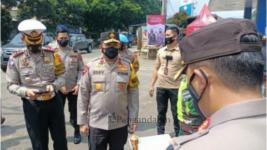 Wakapolda Jabar Pantau Posko Penyekatan di Cibenda Sukabumi