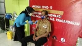 Vaksinasi Covid-19 Tahap Dua bagi Ratusan Pelayanan Publik di Pangandaran