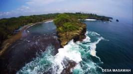Pantai Madasari Surga Tersembunyi di Desa Masawah Kabupaten Pangandaran