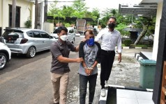 Perjalanan MH Pelaku Pencabulan yang Buron 2 Tahun  Berakhir Dibalik Jeruji Besi Polres Banjar
