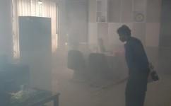 Pegawai Jalani WFH, Gedung Setda Pangandaran di Sterilisasi
