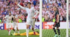 Hasil EURO 2020: Diwarnai Hujan Gol, Spanyol Berhasil Menumbangkan Kroasia