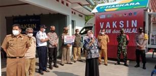 Pelaksanaan Vaksinasi di Banjar Ditinjau Langasung Wali Kota Ade Uu Sukaesih