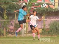 Timnas Wanita Indonesia Lakukan Internal Game, Tim Senior Melawan Tim U-18
