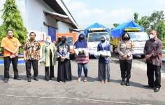 Kapolres Banjar Hadiri Launching Penyaluran Bantuan Beras PPKM Darurat Tahun 2021