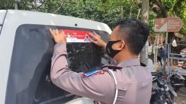 Satlantas Polres Ciamis Edukasi Prokes di Kawasan Objek Wisata Pantai Pangandaran