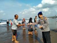 Jaga Kondusifitas, Satpolair Polres Ciamis Lakukan Pengamanan di Kawasan Pantai Pangandaran