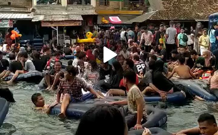 Pasangan Video Mesum di Kolam Renang yang Viral di Media Sosial, Terancam Hukuman 2 Tahun