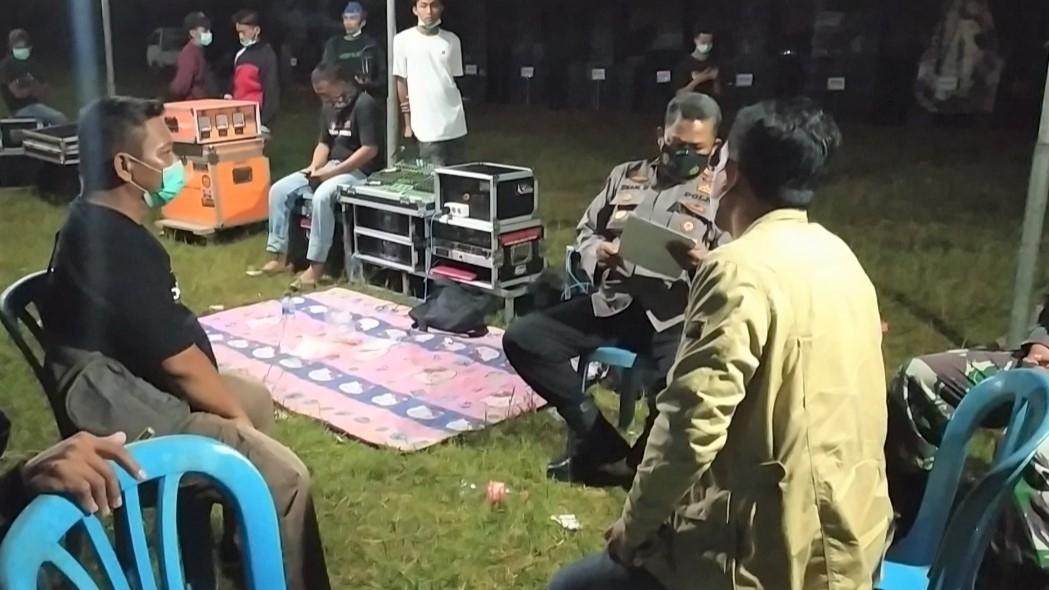 Parade Sound System di Kalipucang Pangandaran Dibubarkan Satgas Covid-19 Kecamatan