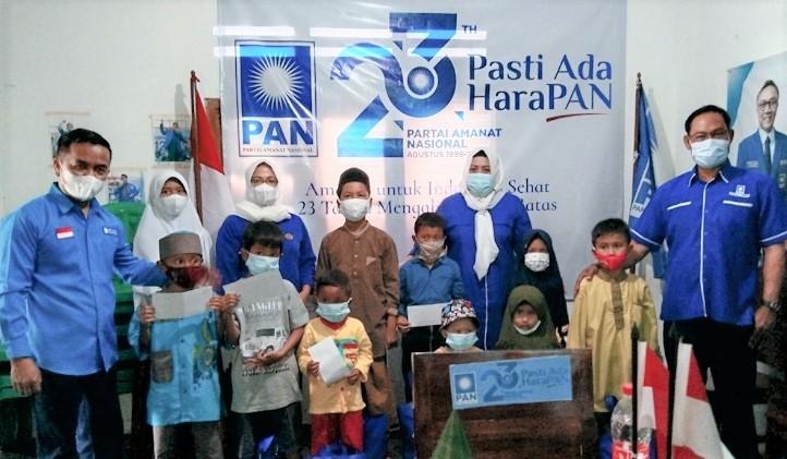 Di Hari Ulang Tahun ke -23 Tahun, DPD PAN Pangandaran Santuni Anak Yatim Piatu