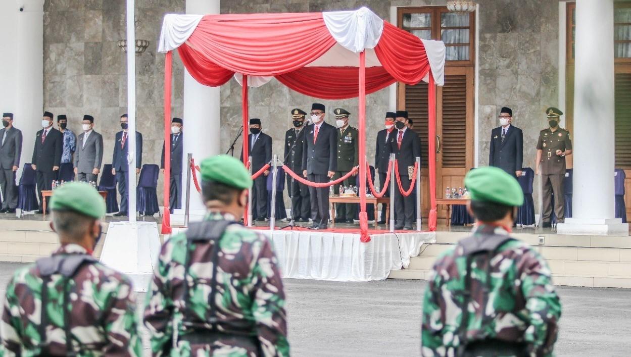Peringati Hari Kesaktian Pancasila, Bupati Herdiat Jadi Inspektur Upacara