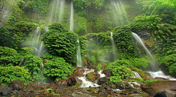 Bak Benang Kelambu Wisata Air Terjun Kelambu Lombok, dengan Kisah Mitos Dewi Anjani